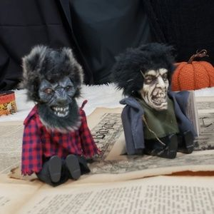 Two werewolf and zombie figurines!